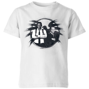Captain Marvel Fury And Coulson S.H.I.E.L.D. Kids' T-Shirt - White