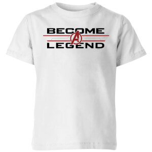 Avengers Endgame Become A Legend Kids' T-Shirt - White
