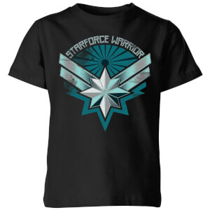 T-Shirt Captain Marvel Starforce Warrior - Nero - Bambini