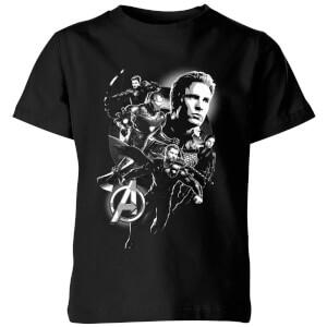 T-Shirt Avengers Endgame Mono Heroes - Nero - Bambini