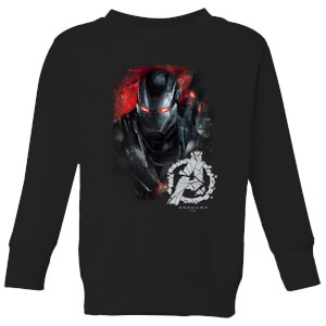 Avengers Endgame War Machine Brushed Kids' Sweatshirt - Schwarz