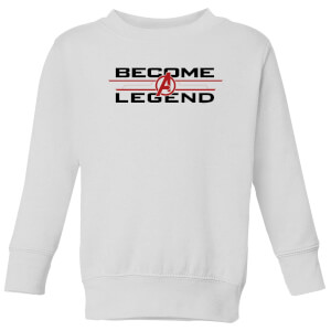 Avengers Endgame Become A Legend Kids' Sweatshirt - White