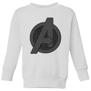 Avengers Endgame Iconic Logo Kids' Sweatshirt - White
