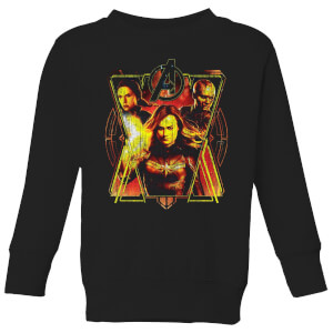 Sweat-shirt Avengers Endgame Distressed Sunburst - Enfant - Noir