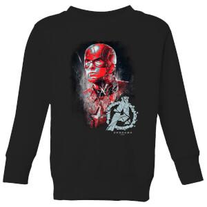 Sweat-shirt Avengers Endgame Captain America Brushed - Enfant - Noir