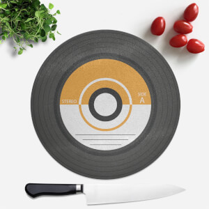 Orange Vinyl Round Chopping Board