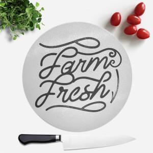 Farm Fresh Round Chopping Board