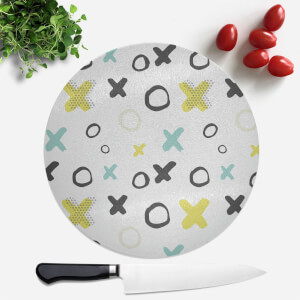 XO Pattern Round Chopping Board