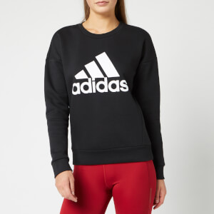 adidas Women's Mh Bos Crew Neck Sweatshirt - Black