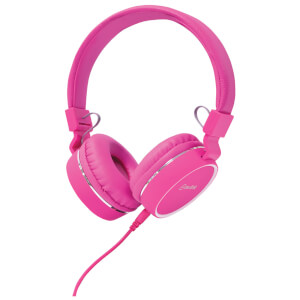 AV: Link Multimedia Headphones with Inline Microphone - Pink/White