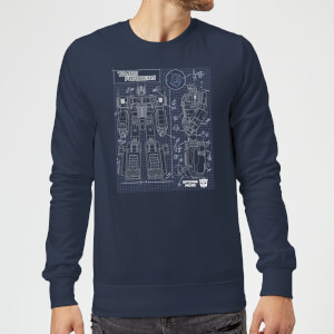 Transformers Optimus Prime Schematic Sweatshirt - Navy
