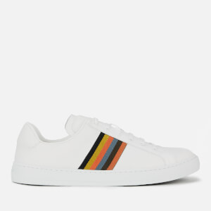 Paul Smith Men's Hansen Leather Cupsole Trainers - White Artist Stripe