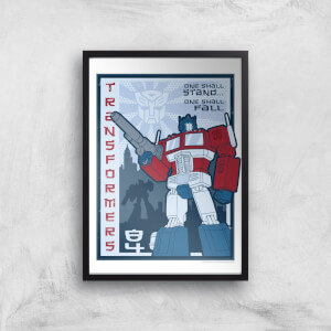 Transformers One Shall Stand Poster Art Print