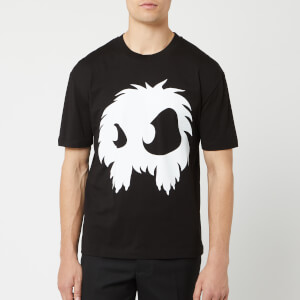 McQ Alexander McQueen Men's Screenprinted Monster Dropped Shoulder T-Shirt - Darkest Black