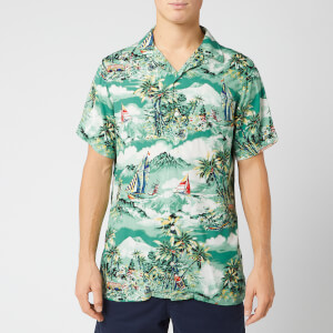 Polo Ralph Lauren Men's Camp Collar Shirt - Stormy Tropical