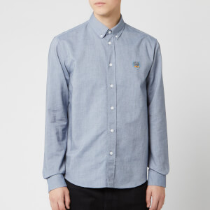 KENZO Men's Crest Casual Fit Shirt - Navy Blue