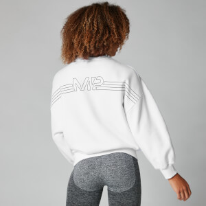 Oversized Logo Sweat - Vit