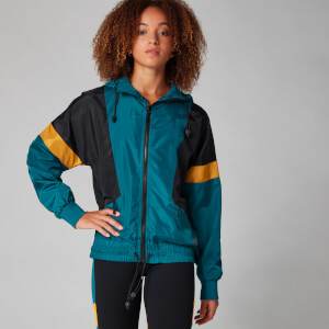 Colour Block Windbreaker Széldzseki - Lagúnakék