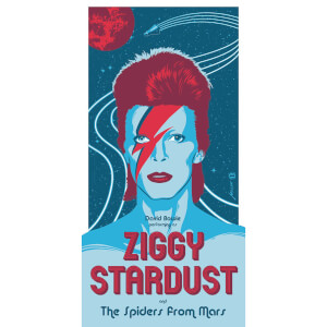 David Bowie - 'Ziggy Startdust' 12 x 24 Inches Limited Edition Screenprint by Brian Miller (GITD Variant)