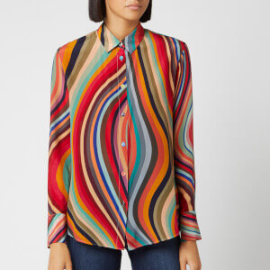 PS Paul Smith Women's Swirl Silk Shirt - Multi