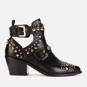 Kurt Geiger London Women's Sybil Leather Studded Ankle Boots - Black