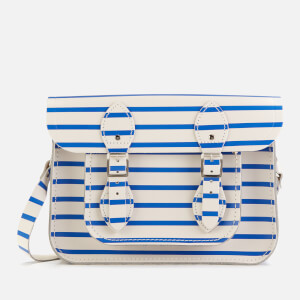 "The Cambridge Satchel Company Women's 11"" Satchel - Blue Stripe"