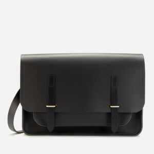 The Cambridge Satchel Company Women's New Bridge Closure Bag - Dark Brown/Black