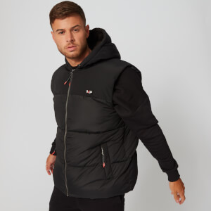 MP Fabric Mix Puffer Gilet - Black