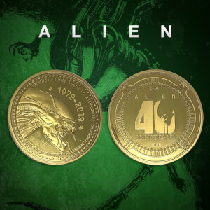Alien '40th Anniversary' Limited Edition Collector's Coin: Gold Variant - Zavvi Exclusive