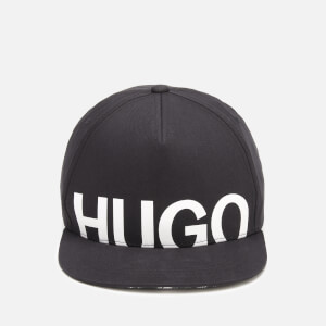 HUGO Men's Large Logo Cap - Black/White