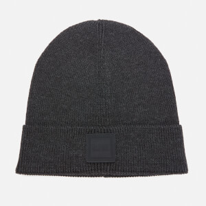 BOSS Men's Fox Squared Logo Beanie Hat - Black