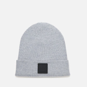 BOSS Men's Fox Squared Logo Beanie Hat - Grey