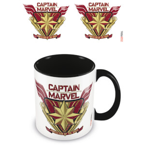 Captain Marvel (Protector) Black Coloured Inner Mug