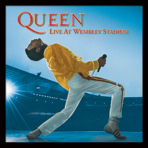 "Queen (Live At Wembley) 12"" Album Cover Framed Print"
