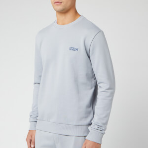 HUGO Men's Drick Embroidered Logo Sweatshirt - Grey/Blue
