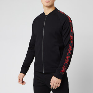 HUGO Men's Dalkutta Tape Bomber Jacket - Black/Red