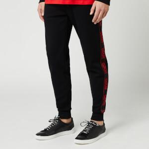 HUGO Men's Daschkent Tape Sweatpants - Black/Red