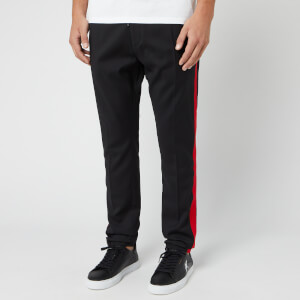 HUGO Men's Zander Drawstring Tape Pants - Black/Red