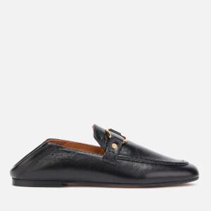 Isabel Marant Women's Ferlyn Shiny Slip On Loafers - Black