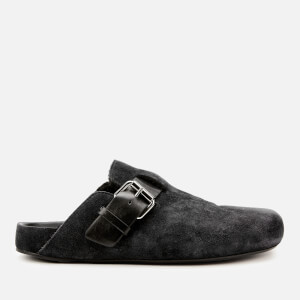 Isabel Marant Women's Mirvin Buckle Shearling Lined Mules - Faded Black