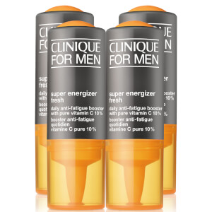 Clinique for Men Energiser Fresh Daily Anti-Fatigue Booster with Pure Vitamin C 10% 34ml (Pack of 4)