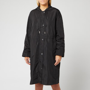 KENZO Women's Light Nylon Hooded Mac - Black