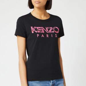 KENZO Women's Light Cotton Single Jersey T-Shirt - Black