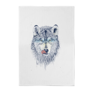 Wolf Eyes Cotton Tea Towel