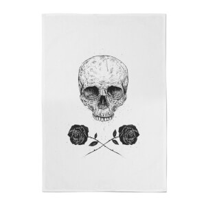 Skull And Roses Cotton Tea Towel