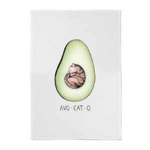 Barlena Avo-Cat-O Cotton Tea Towel