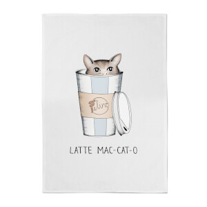 Barlena Latte Mac-Cat-O Cotton Tea Towel