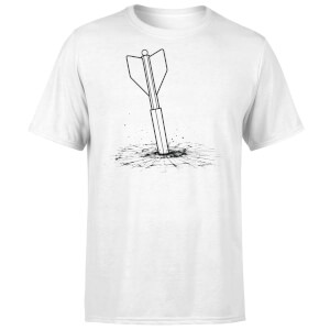 How Ridiculous Giant Dart Vs. Bulletproof Glass Men's T-Shirt - White