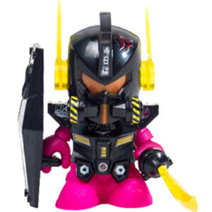 Kidrobot Gundam Black Edition 3 Inch Mini Figure