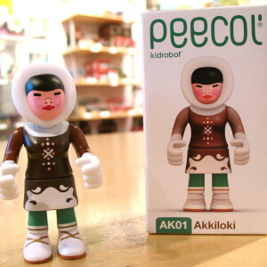Kidrobot Peecol Akkiloki 3.5 Inch Figure Designed by Eboy